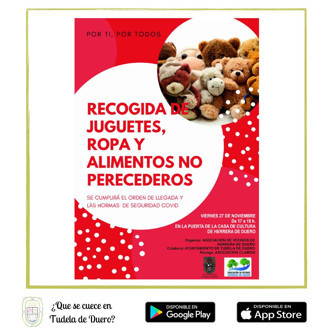 Recogida Juguetes Ropa y Alimentos No Perecederos